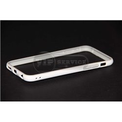 iPhone 6/6S бампер на торцы силиконовый, белый