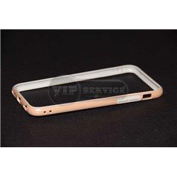 iPhone 6/6S бампер на торцы силиконовый, бежевый