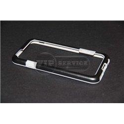 iPhone 6/6S бампер на торцы силиконовый уплотненый, черный