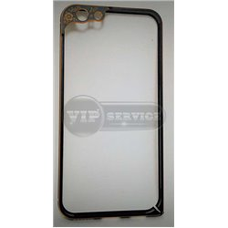 iPhone 6/6S бампер на торцы металлический, черный с рамкой на камеру