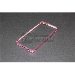 iPhone 6/6S бампер на торцы металлический, розовый с рамкой на камеру