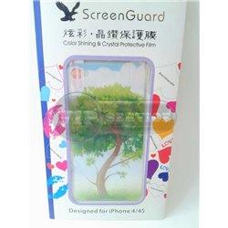 "iPhone 4/4S виниловая наклейка ""Tree"""