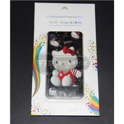 iPhone 4/4S виниловая наклейка «Hello Kitty» черный фон