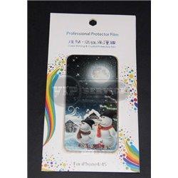 iPhone 4/4S виниловая наклейка, Новогодняя ночь
