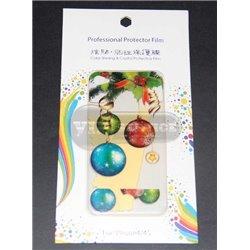 iPhone 4/4S виниловая наклейка, Новогодняя