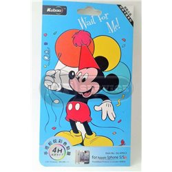 "iPhone 5/5S виниловая наклейка Kubao ""Wait for me (Micky Mouse)"" №5G-KP013"