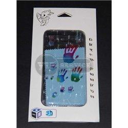 iPhone 5/5S виниловая наклейка 3D, ладони