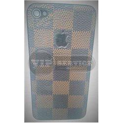 iPhone 4 задняя крышка Louis Vuitton, экокожа, шахматная доска