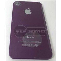 iPhone 4 задняя крышка, светящееся яблоко, фиолетовая