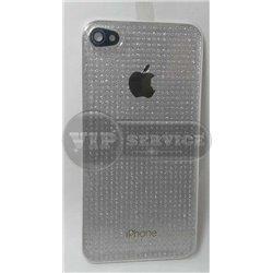 iPhone 4 задняя крышка, силиконовая, белая