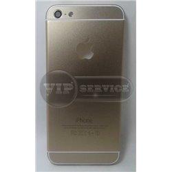 iPhone 5 задняя крышка, золотая с окошком для логотипа Apple