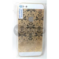 iPhone 5 задняя крышка, золотая, орнаментика