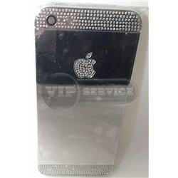 iPhone 5 задняя крышка, металлика с камнями
