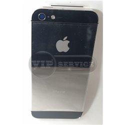 iPhone 5 задняя крышка, металлика с черными вставками