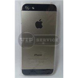 задняя крышка iPhone 5 черные вставки сверху и снизу серебристая