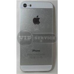 iPhone 5 задняя крышка,серебристый, белые вставки сверху и снизу
