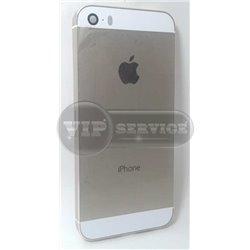 iPhone 5S задняя крышка, gold, белые вставки сверху и снизу, копия