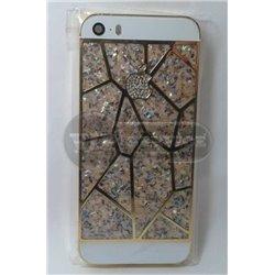 iPhone 5S задняя крышка, золотая с камнями