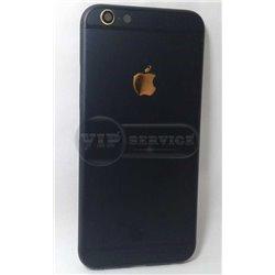 iPhone 6 задняя крышка, темно-синяя с золотым логотипом Apple