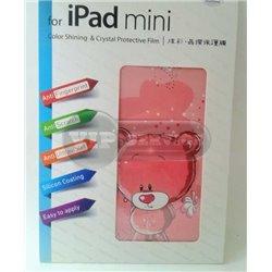 """iPad mini виниловая наклейка Newmond """"Bear"""" розовый"""