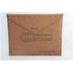 iPad 1/2/3/4 чехол-конверт SWISH, кожаный, коричневый
