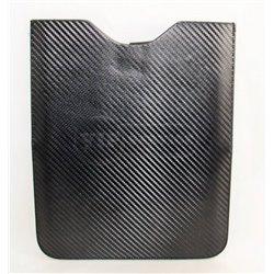 iPad 2/3/4 чехол-футляр, кожаный по карбон, черный