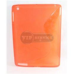 iPad 2/3/4 чехол-накладка, силиконовый волна, красный