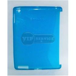 iPad 2/3/4 чехол-накладка, силиконовый, голубой