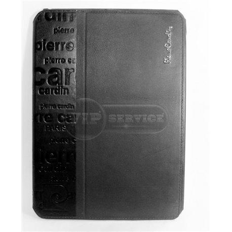 iPad Air чехол-книжка Pierre Cardin, с надписями, кожаный, черный