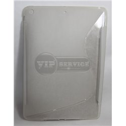 iPad Air чехол-накладка, силиконовый волна, прозрачный