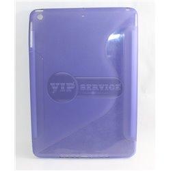 iPad Air чехол-накладка, силиконовый волна, синий