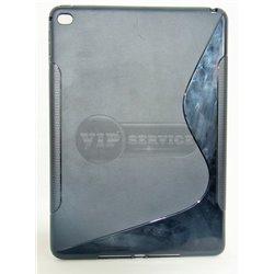 iPad Air 2 чехол-накладка, силиконовый волна, черный