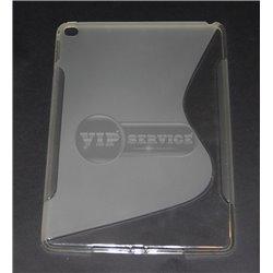 iPad Air 2 чехол-накладка, силиконовый волна, прозрачный