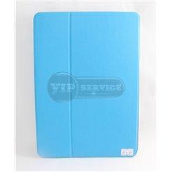iPad Air 2 чехол-книжка, экокожа, 4 слота для пластиковых карт, голубой