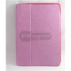 iPad Air 2 чехол-книжка, экокожа, 4 слота для пластиковых карт, розовый