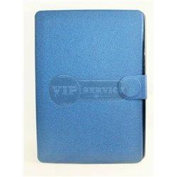 iPad Air 2 чехол-книжка, экокожа, 3 слота для пластиковых карт, на магнитной заклепке, синий