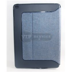 iPad Air 2 чехол-книжка, экокожа, 4 слота для пластиковых карт,фактурный, темно-синий
