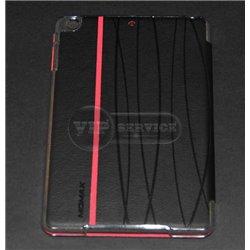 чехол-книжка iPad Mini 1/2/3 с красной полосой экокожа