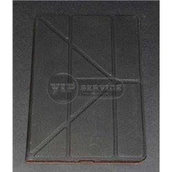 чехол-книжка iPad Mini 1/2/3 под карбон черный кожаный