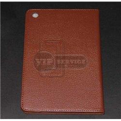 iPad mini 1/2/3 чехол-книжка, кожа, коричневый