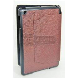 iPad mini 1/2/3 чехол-книжка, фактурный, экокожа, коричневый