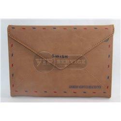 IPad 1/2/3 чехол-конверт SWISH, кожаный, коричневый