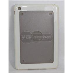 iPad mini 1/2/3 чехол-накладка, пластик+силикон, белый