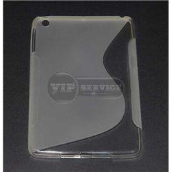 iPad mini 1/2/3 чехол-накладка, силиконовый волна, прозрачный