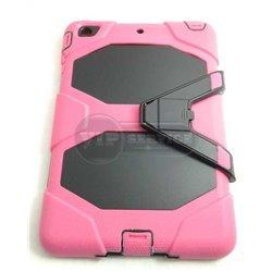iPad mini 1/2/3 чехол-противоударный, пластик+силикон, розовый
