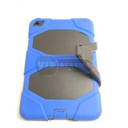 iPad mini 4 чехол-противоударный, пластик+силикон, синий