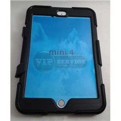 iPad mini 4 чехол-противоударный, пластик+силикон, черный
