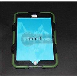 iPad mini 4 чехол-противоударный, пластик+силикон, зеленый
