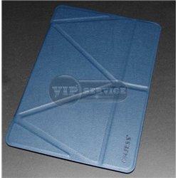 чехол-книжка iPad Pro 12.9'' ONJESS силиконовая основа синий экокожа
