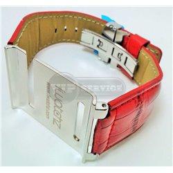 iPod nano 6 ремешок iWatch, кожаный, стальная оправа, красный
